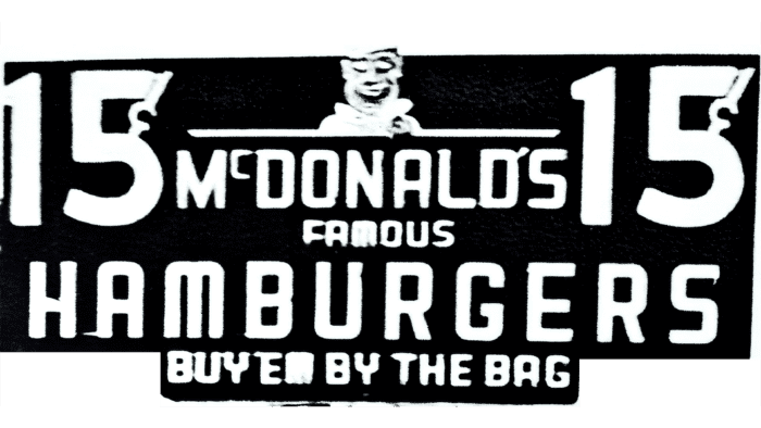McDonald's Famous Hamburgers Logo 1948-1953