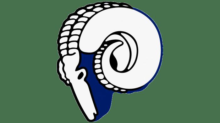 Cleveland Rams logo 1944-1945