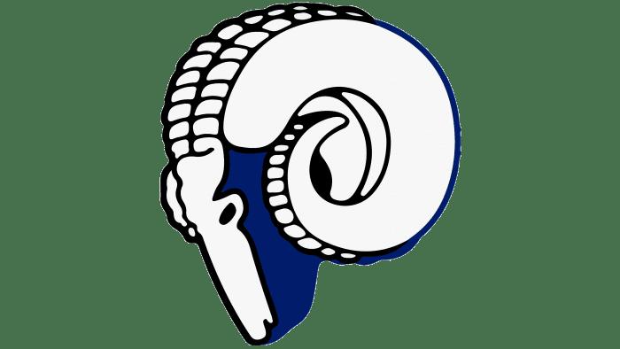 Los Angeles Rams logo 1946-1950
