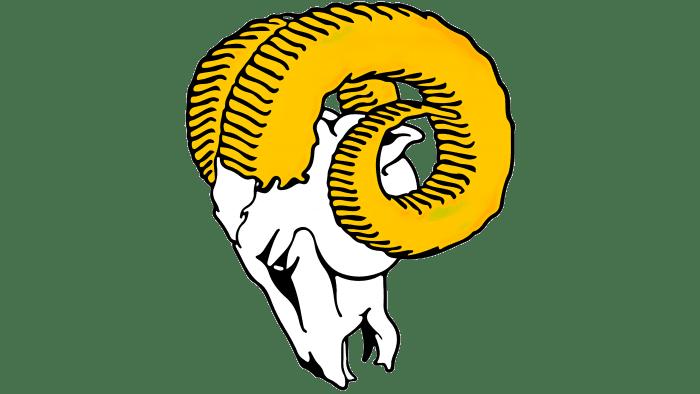 Los Angeles Rams logo 1951-1969