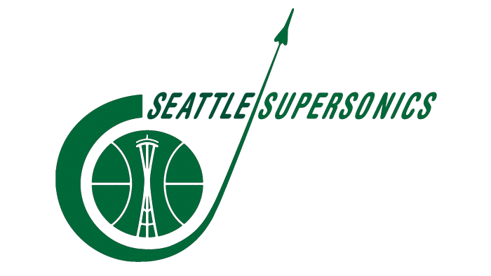 Seattle SuperSonics Logo 1968-1970