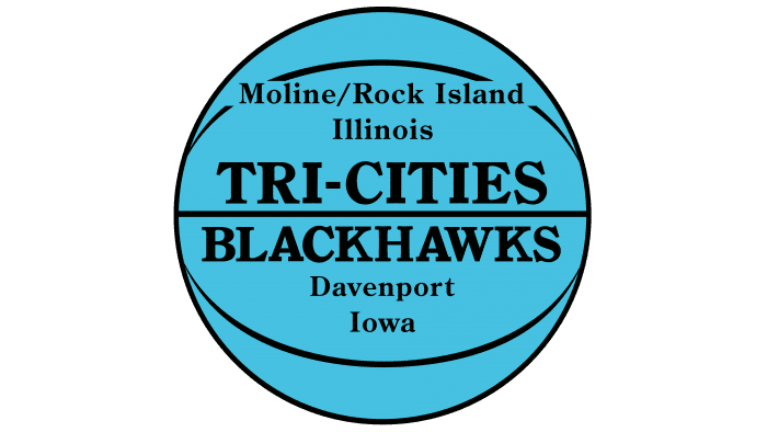 Tri City Blackhawks Logo 1946-1951