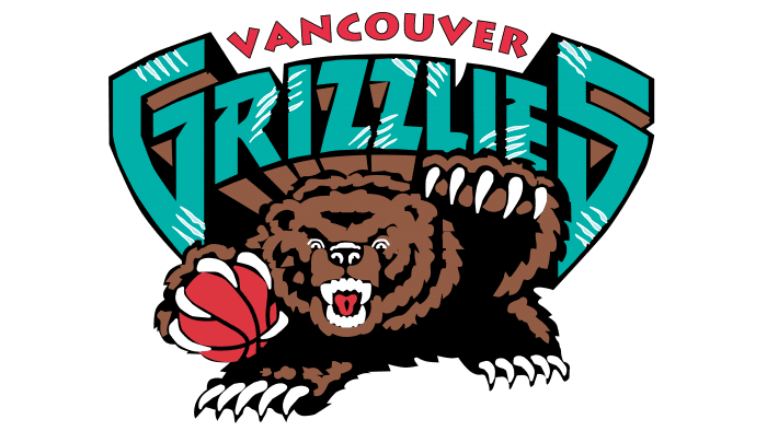 Vancouver Grizzlies Logo 1996-2001