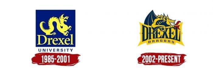 Drexel Dragons Logo History