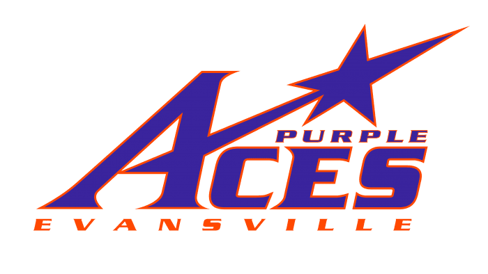 Evansville Purple Aces Logo 2001-2018