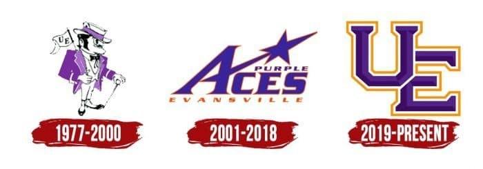 Evansville Purple Aces Logo History