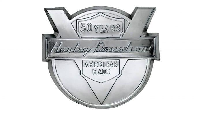 Harley-Davidson Motorcycles Logo 1953-1980s