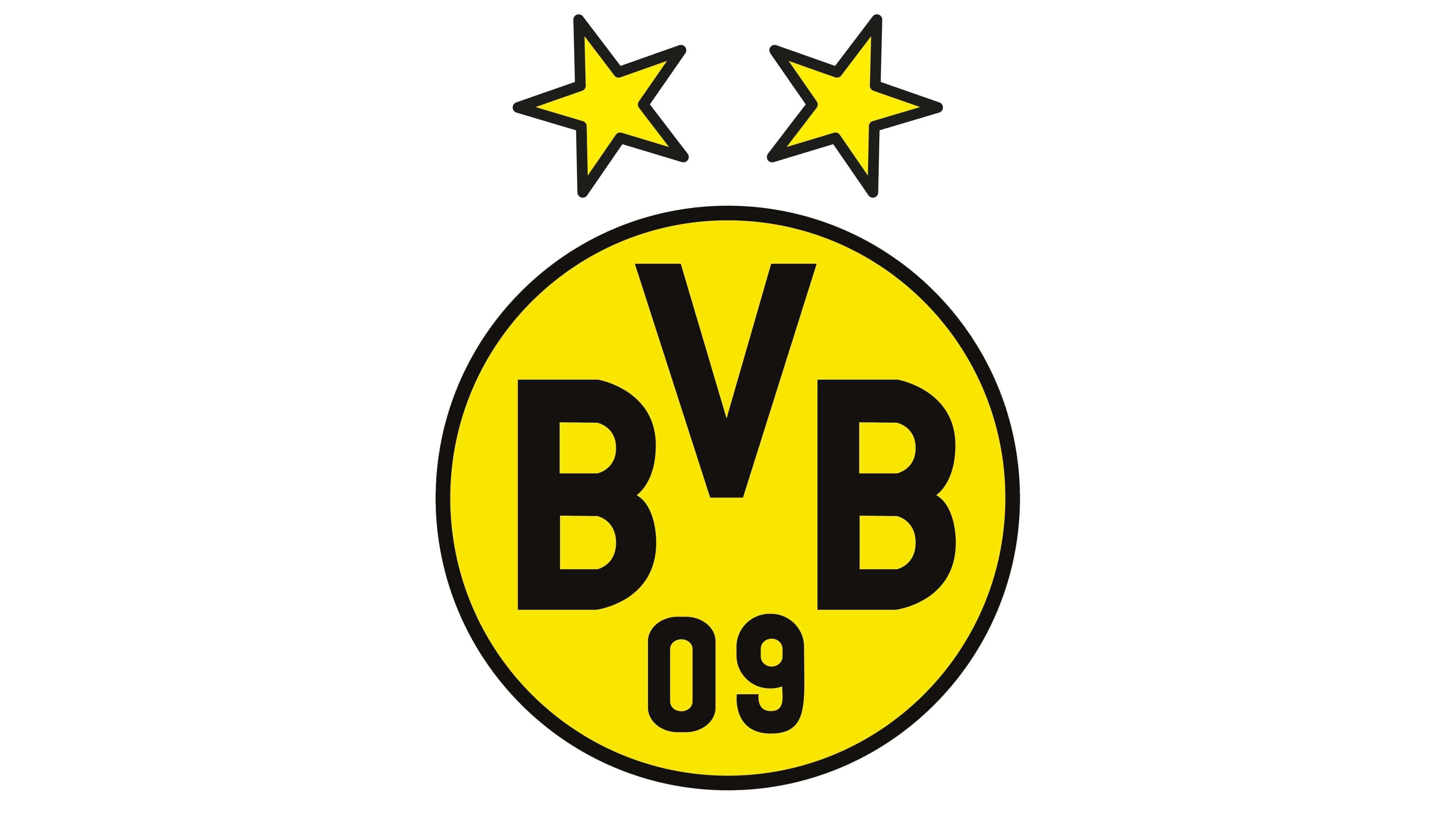 Borussia Dortmund Logo Symbol History Png 3840 2160