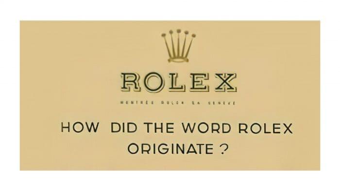 Rolex Logo 1905-1965