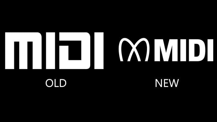 New and Old MIDI Logo
