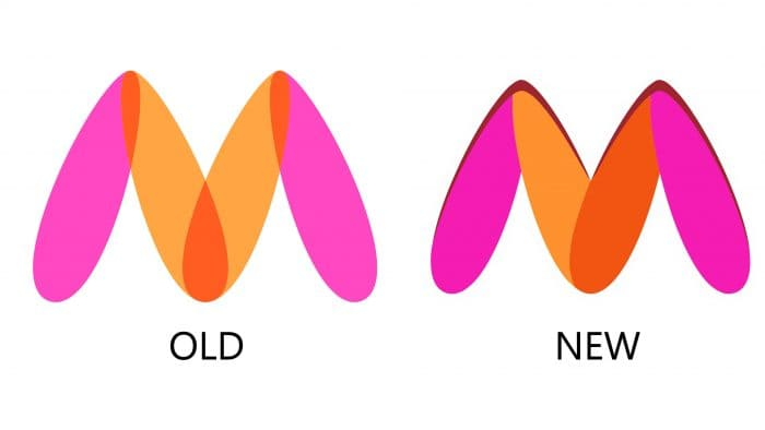 New and Old Myntra Logo