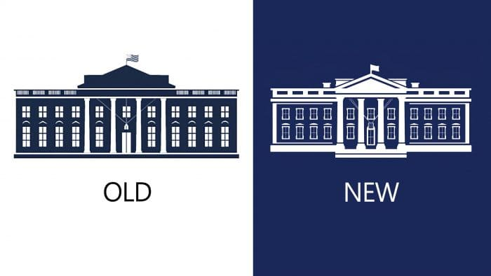 New and Old White House Logo