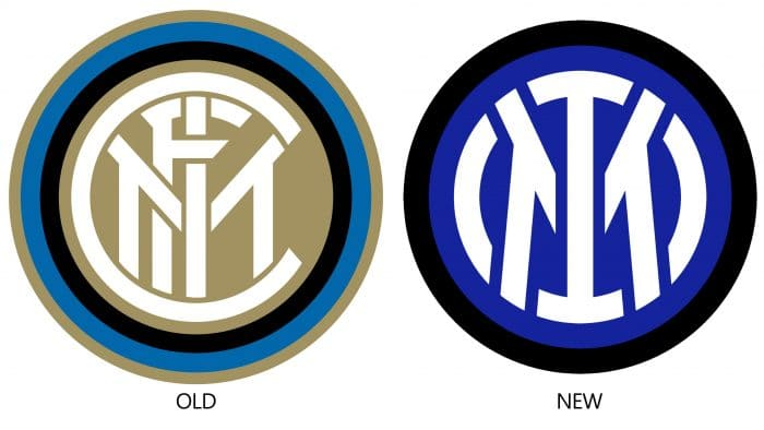 Old and New Inter Logo