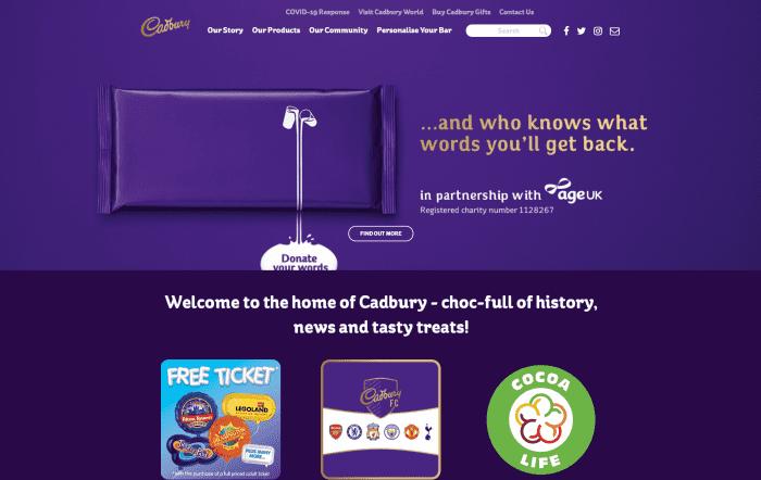 Purple color in the brand