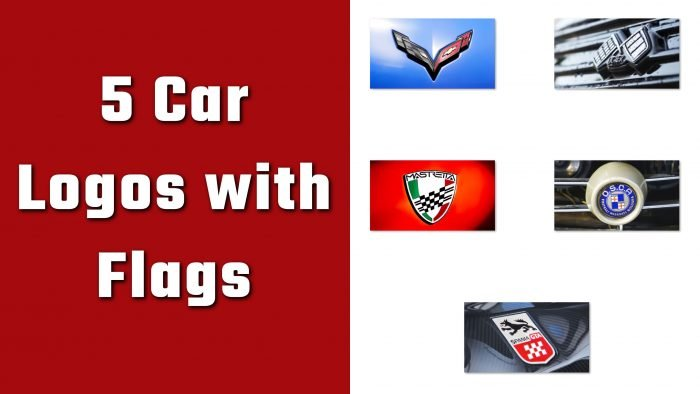 5 Car Logos with Flags