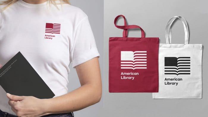 American Library Logo Design by the Click