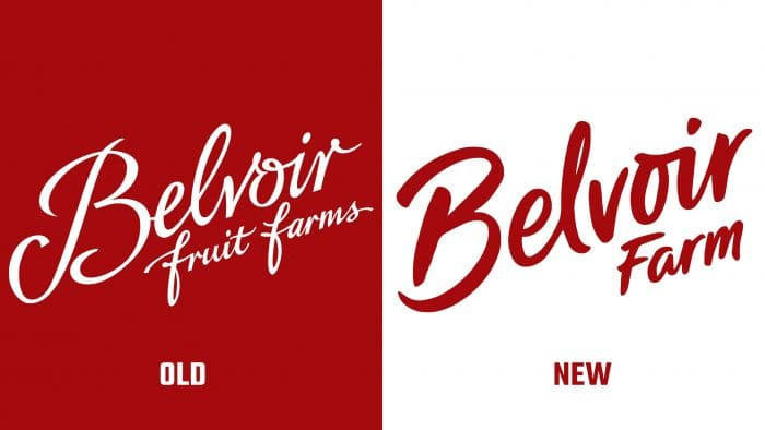 Belvoir Farms Old and New Logo
