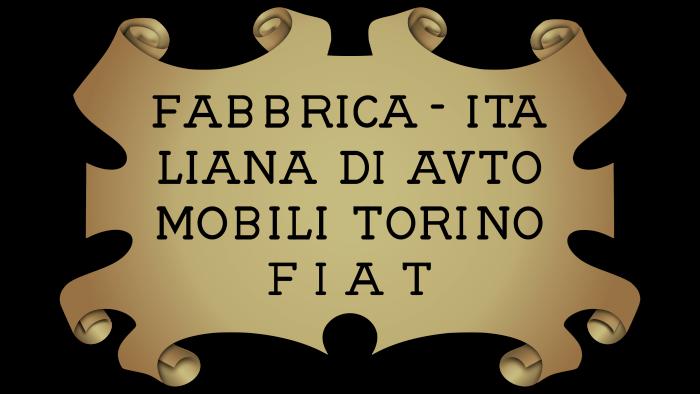 Fiat Logo 1899-1901