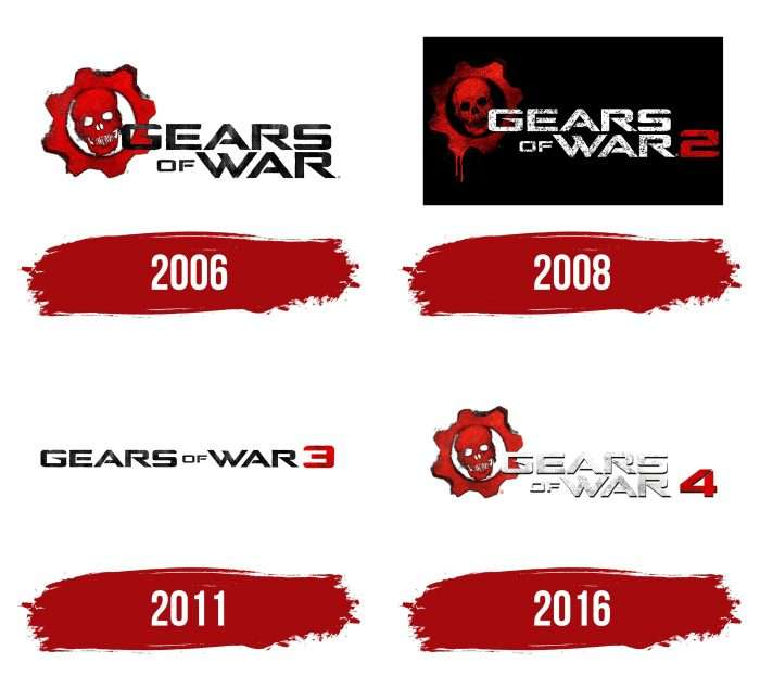 Gears of War Logo History