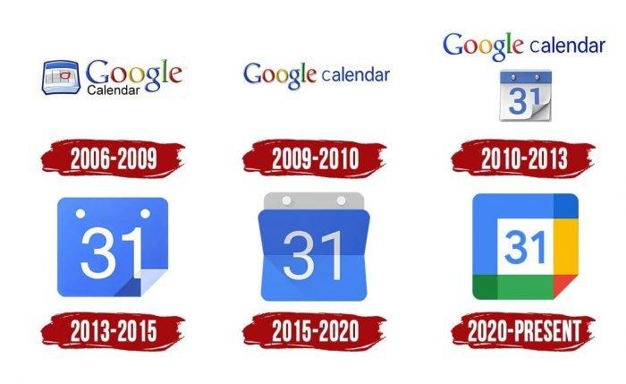 Google Calendar Logo History