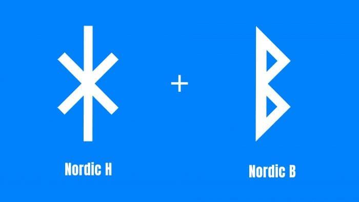 Nordic runes Harald Bluetooth Logo