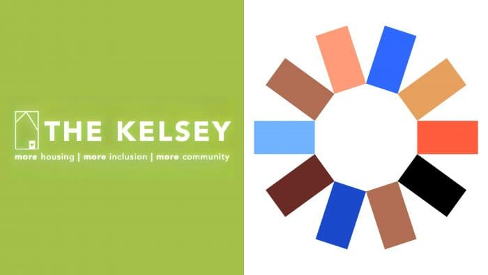 The Kelsey New and Old Logo