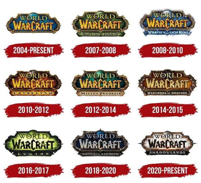 World of Warcraft Logo History