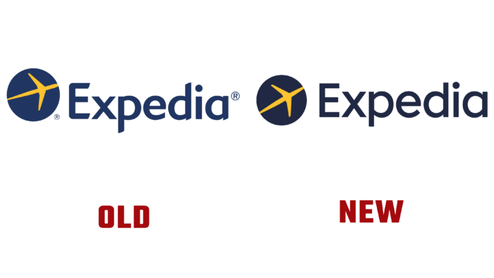 Expedia New and Old Logo (history)