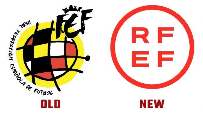 Royal Spanish Football Federation (RFEF) New and Old Logo history