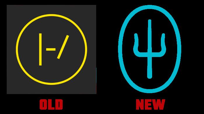 Twenty One Pilots Old and New Logo