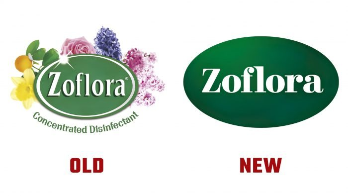 Zoflora New and Old Logo History