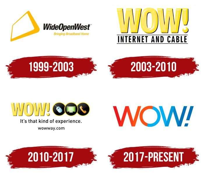 Wide Open West (WOW) Logo History