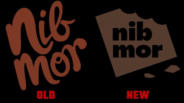 nib mor Old and New Logo (history)