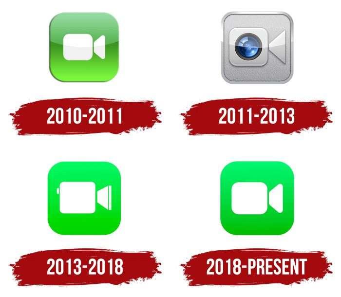 FaceTime Logo History