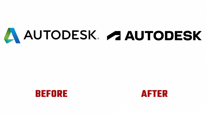 Autodesk Before and After Logo (history)
