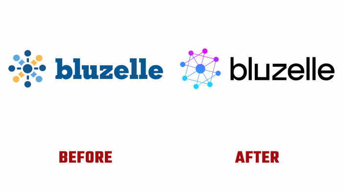 Bluzelle Before and After Logo (history)