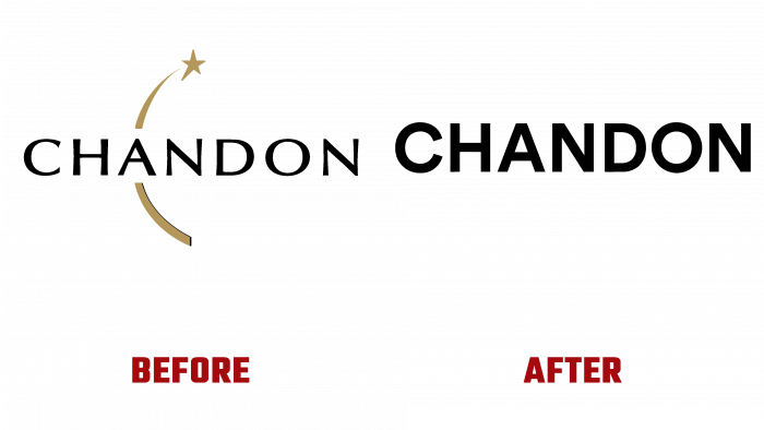 Chandon Before and After Logo (history)