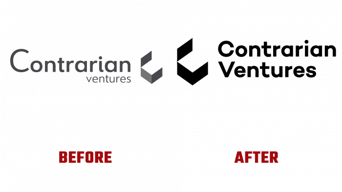 Contrarian Ventures Before and After Logo (history)
