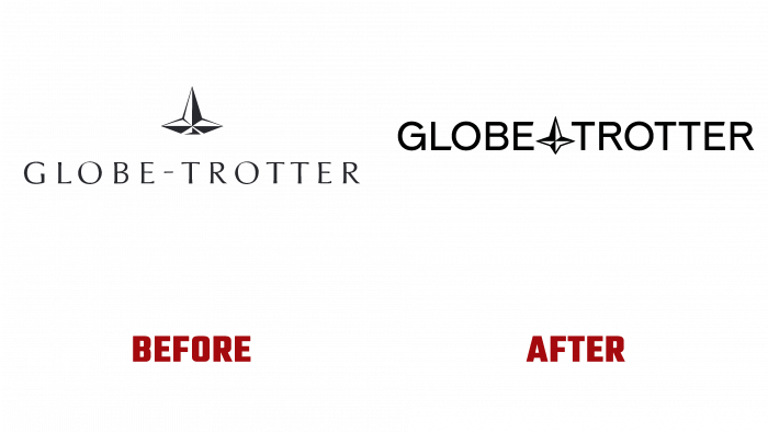 Globe-trotter Before and After Logo (history)