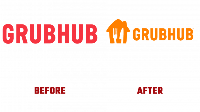 Grubhub Before and After Logo (history)