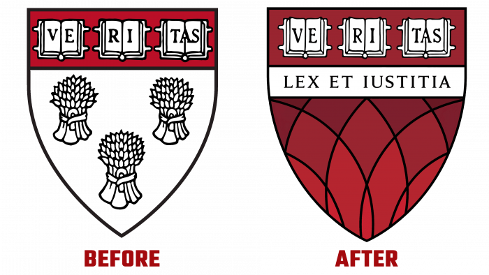 Harvard Law School Before and After Logo (history)