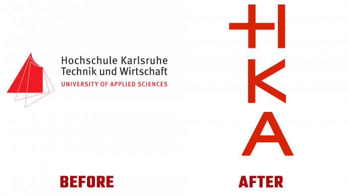 Hochschule Karlsruhe Before and After Logo (history)