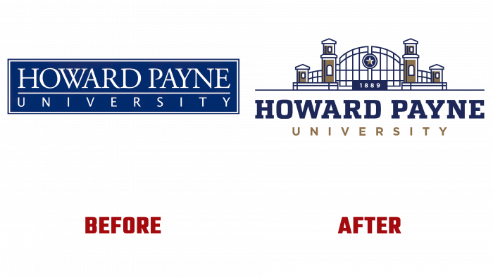 Howard Payne University Before and After Logo (history)