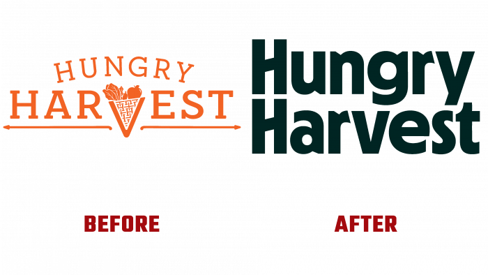 Hungry Harvest Before and After Logo (history)