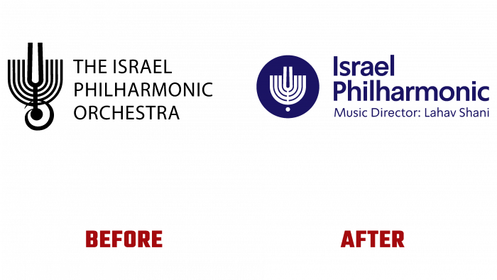 Israel Philharmonic Orchestra Before and After Logo (history)