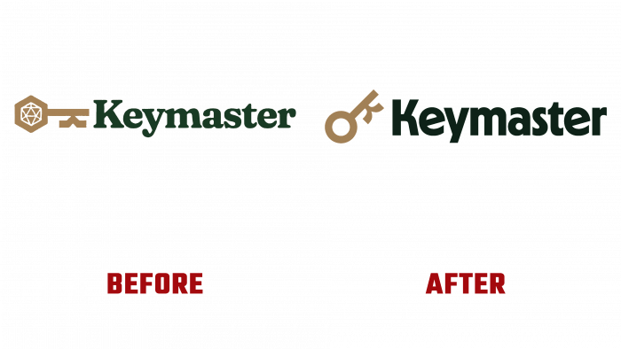 Keymaster Games Before and After Logo (history)