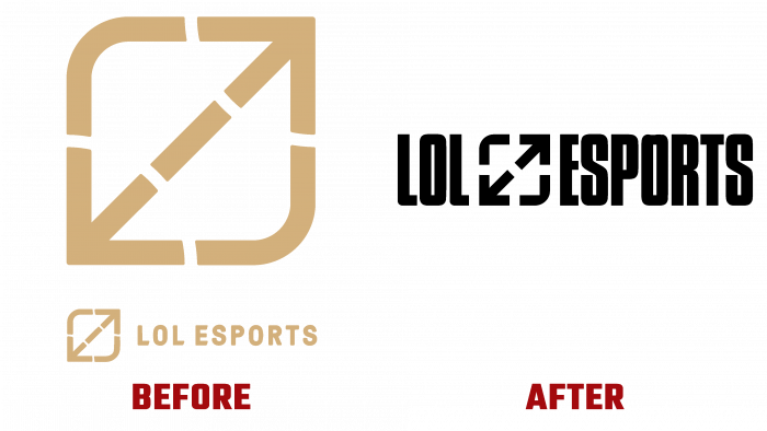 LoL Esports Before and After Logo (history)