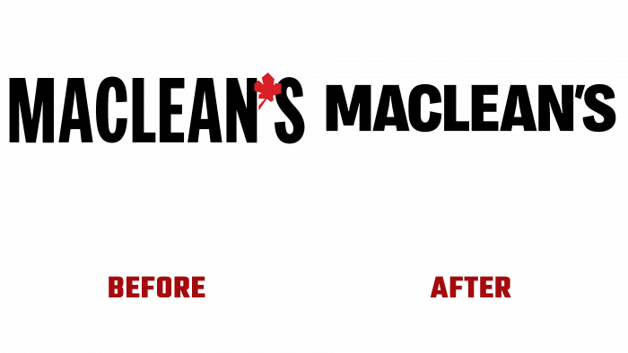 Maclean's Before and After Logo (history)