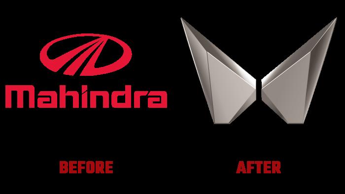 Mahindra & Mahindra Before and After Logo (history)
