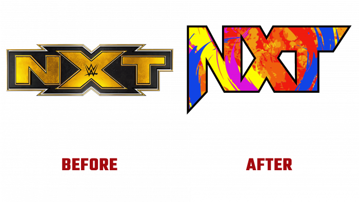 NXT Before and After Logo (history)